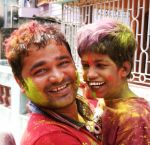 shuktara home for young people with disabilities - 2017 March Holi - Pappu and Guria