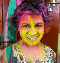 shuktara home for young people with disabilities - 2017 March - Prity on Holi