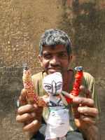 shuktara home for boys with disabilities - 2017 March - Sunil with his handmade doll