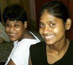 shuktara home for girls with disabilities - 2017 May - Muniya with Ipshita, both girls are smiling