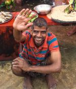 shuktara home for young adults with disabilities - 2016 September - Sunil celebrating Vishwakarma Puja