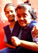 shuktara - Moni and Lali in their school uniforms