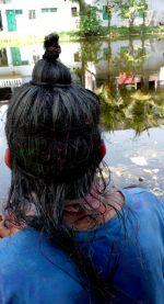 shuktara - Holi - Sunil in a wig