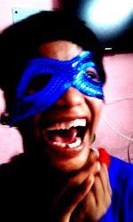 shuktara - Tamina blue sequin mask