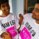 shuktara - Guria and Pappu in their Team Levi teeshirts