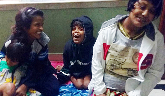 shuktara home for disabled girls - 2016 December - Puja, Lali, Guria and Muniya