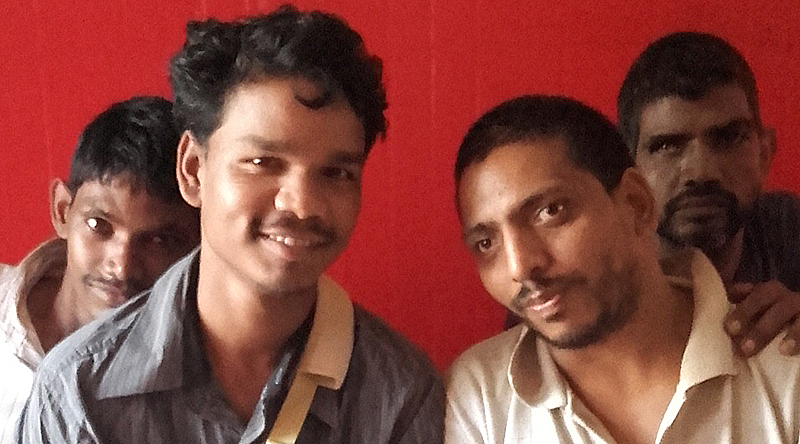 shuktara home for disabled youth - 2016 August - Ramesh, Rajesh, Bablu Lal and Sunil
