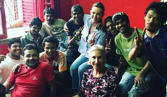 shuktara home for disabled young adults - Belinda Carlisle and the boys
