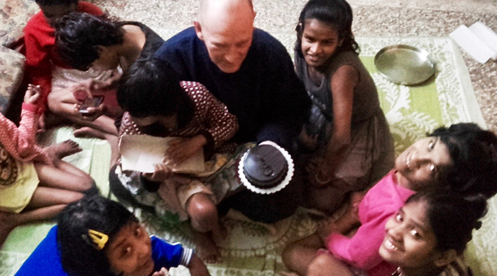 shuktara home for disabled girls - 2017 January - David celebrates his birthday at Lula Bari