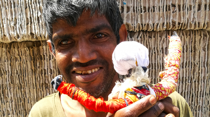 shuktara - 2017 March - Sunil with his handmade doll