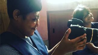 shuktara home for girls with disabilities - Muniya the camerawoman
