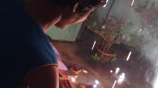 shuktara - 2017 October - Tamina twirling a sparkler