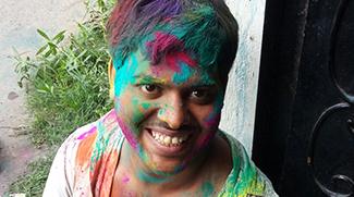 shuktara celebrates Holi, festival of colours