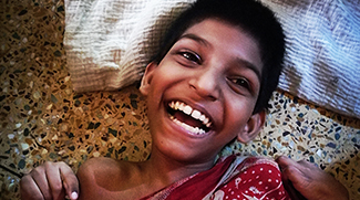 Aakash after six weeks at shuktara