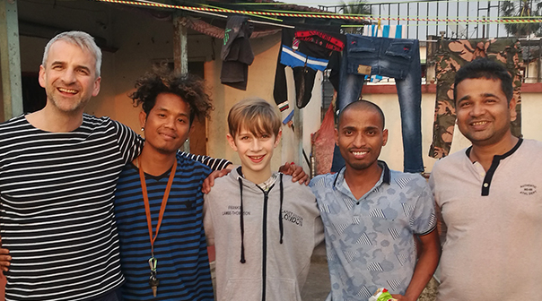 Adam and his son visit shuktara