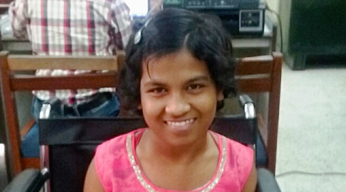 shuktara home for disabled girls - 2017 March - Prity gets her Aadhar card