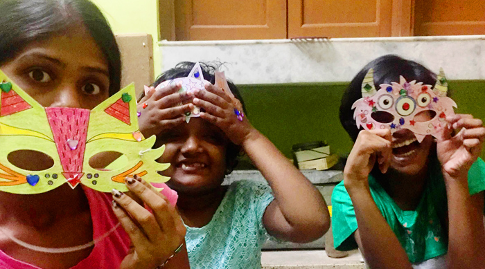 shuktara home for girls - Diwali 2016 - Ipshita, Moni and Lali