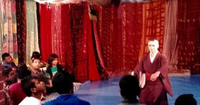 Butoh performance on the shuktara roof
