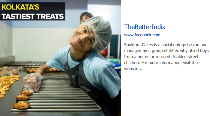 'The Better India' features Shuktara Cakes!