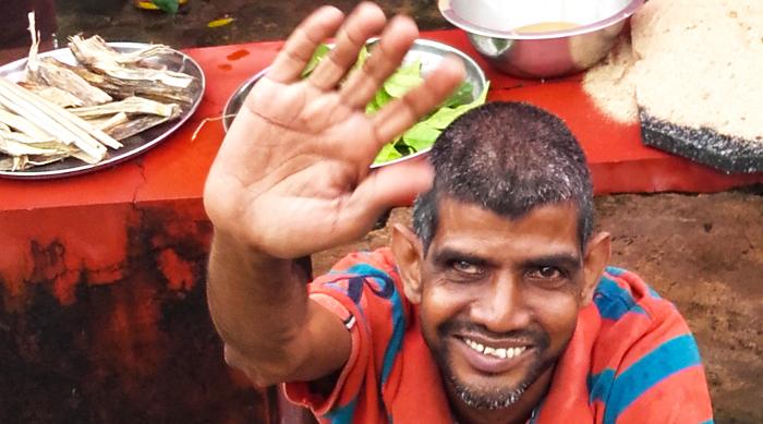shuktara home for young people with disabilities - September 2016 - Sunil celebrates Vishwakarma Puja