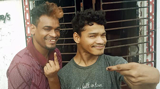 Raju and Ashok from shuktara homes show their inked fingers after votingRaju and Ashok from shuktara homes show their inked fingers after voting