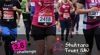 Emma D'arcey runs the London Marathon for shuktara