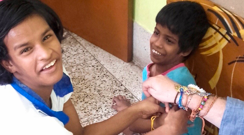 shuktara home for kids with disabilities - 2016 Raksha Bandhan - Lali, Guria, and David